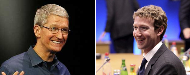 En la Foto: Tim Cook y Mark Zuckerberg | EFE