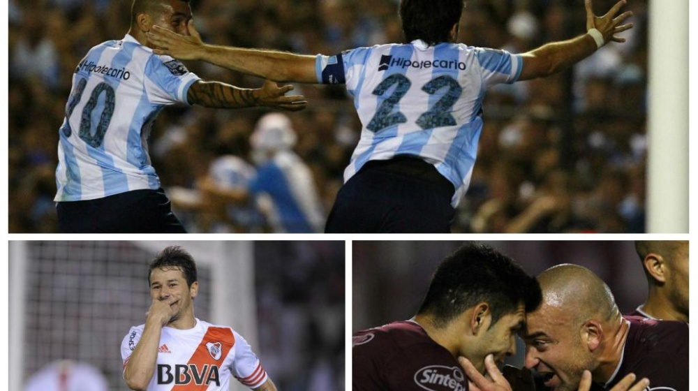 Racing, River y Lanús