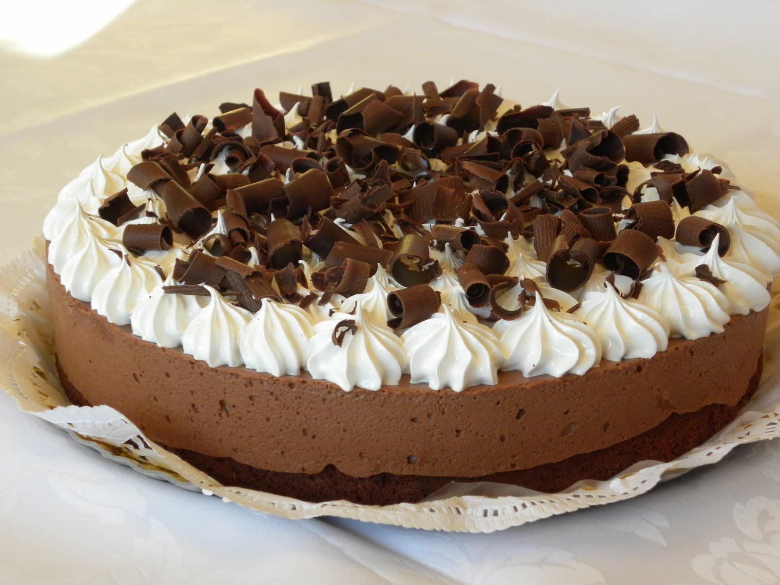 Postre Torta Brownie De Chocolate Con Mousse Revista Show Up