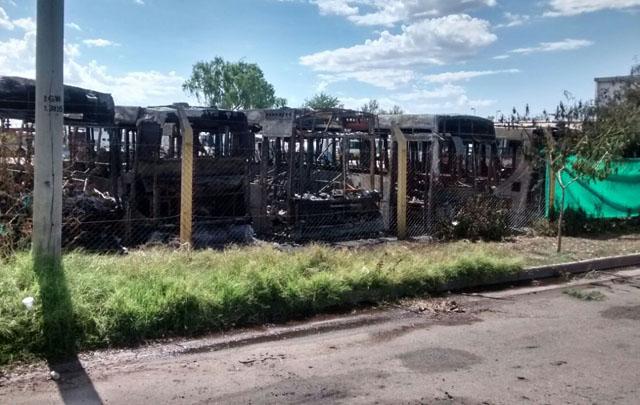 colectivos quemados