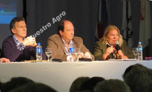 Carrio, Macri y Sanz