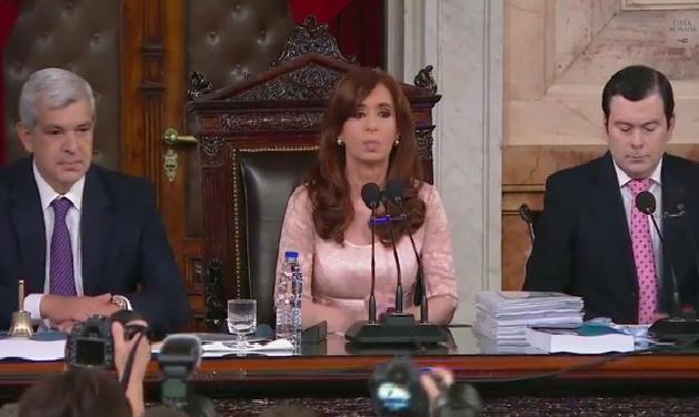 Cristina Kirchner en el Congreso