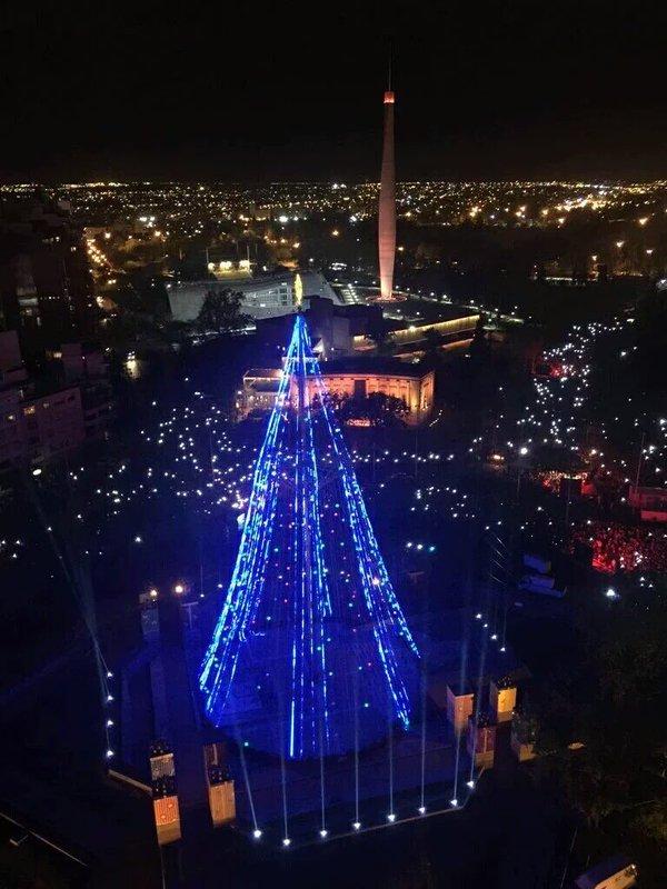 Inauguracion del arbol de navidad en cordoba